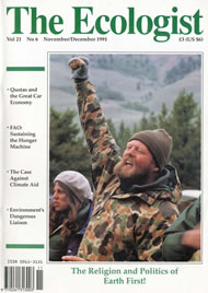 Cover of Ecologist issue 1991-11