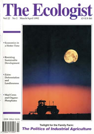 Cover of Ecologist issue 1992-03