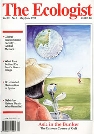 Cover of Ecologist issue 1992-05