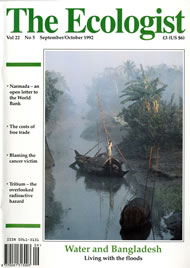 Cover of Ecologist issue 1992-09