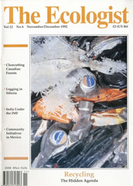 Cover of Ecologist issue 1992-11
