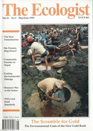 Cover of Ecologist issue 1993-05