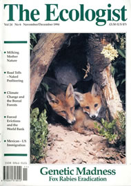 Cover of Ecologist issue 1994-11