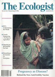 Cover of Ecologist issue 1996-03