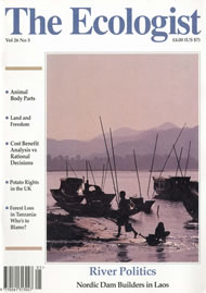 Cover of Ecologist issue 1996-05