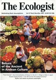 Cover of Ecologist issue 1997-11