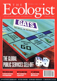 Cover of Ecologist issue 2001-02
