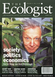 Cover of Ecologist issue 2001-04