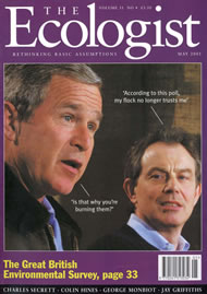 Cover of Ecologist issue 2001-05