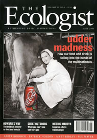 Cover of Ecologist issue 2001-06