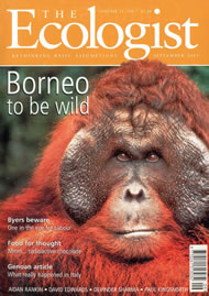 Cover of Ecologist issue 2001-09