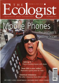 Cover of Ecologist issue 2001-10