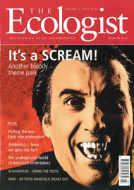Cover of Ecologist issue 2002-03