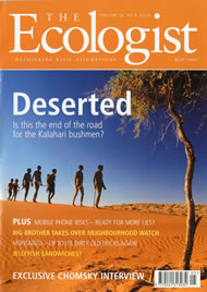 Cover of Ecologist issue 2002-05