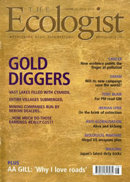 Cover of Ecologist issue 2002-07