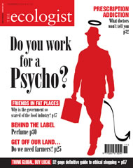 Cover of Ecologist issue 2004-11