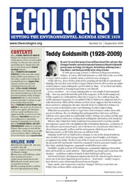 Cover of Ecologist issue 2009-09