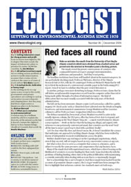 Cover of Ecologist issue 2009-12