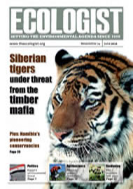 Cover of Ecologist issue 2011-06