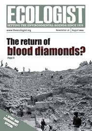 Cover of Ecologist issue 2011-08
