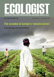 Cover of Ecologist issue 2011-09