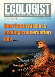 Cover of Ecologist issue 2011-12