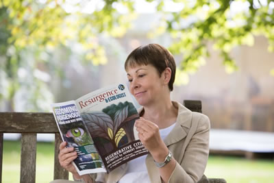Caroline Lucas reading Resurgence