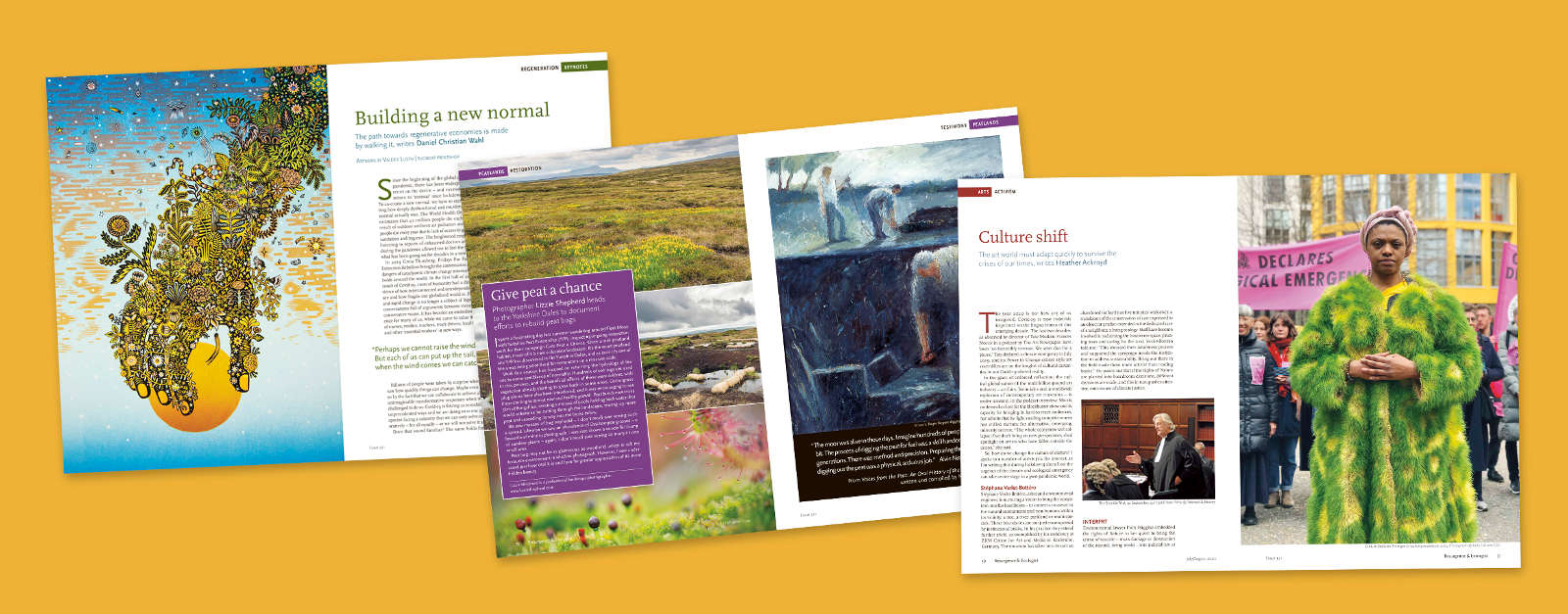 Images from Resurgence and Ecologist Magazine issue 321